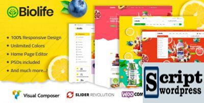 Template wordpress para lojas deprodutos organicas