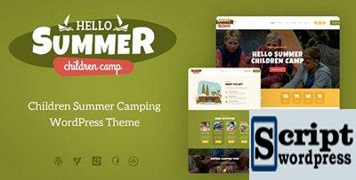 Hello Summer v1.0.1 - Tema de WordPress de acampamento infantil
