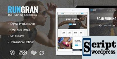 Run Gran v1.0.1 - Tema de WordPress para Roupas e Equipamento Esportivo