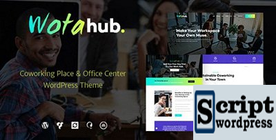 WotaHub v1.0.2 - Tema de WordPress do espaço de coworking