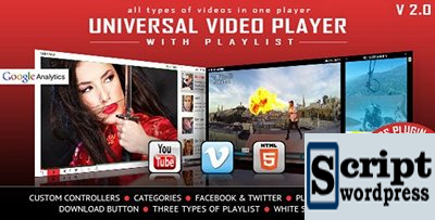 CodeCanyon - Universal Video Player v2.9.2.0 - WordPress Plugin - 9683312
