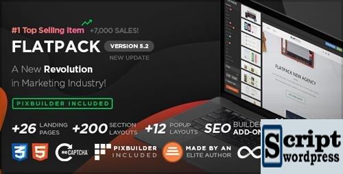 FLATPACK - Pacote de Páginas com o Page Builder