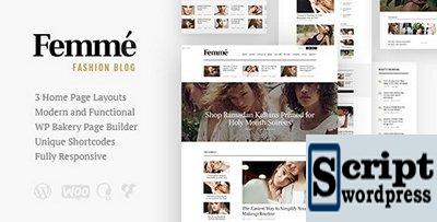 Femme v1.2.1 - Uma revista on-line e um blog de moda Tema para WordPress
