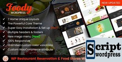 Foody - Tema Wordpress Para Restaurante e Serviços