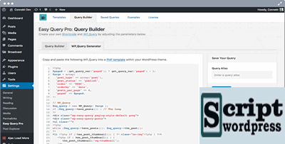 Easy Query Pro - construtor de consultas para WordPress