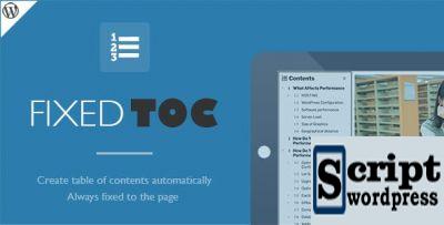 Fixed TOC - Plugin WordPress para criar índice