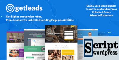 Getleads - Tema de WordPress de página de destino de alto desempenho