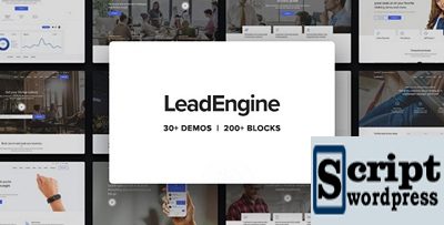 LeadEngine – Multi-Purpose WordPress Theme with Page Builder
