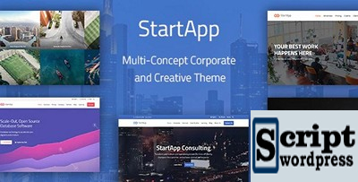 StartApp - Tema Corporativo e Criativo Multi-Conceito