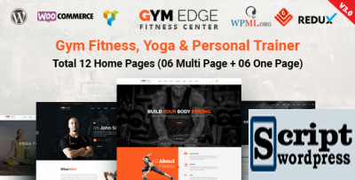 Template fitness para wordpress academia - Gym Edge