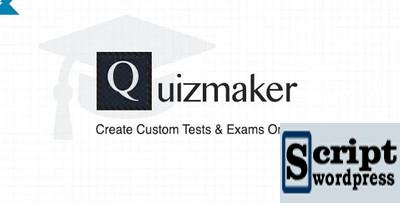 Quizmaker - Crie testes e exames personalizados on-line Wordpress