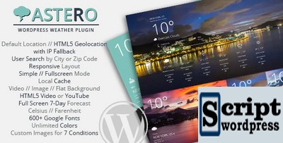 Astero - WordPress Weather Plugin