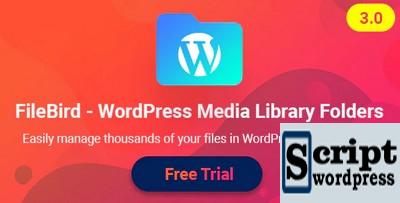 FileBird v3.3 - Plugin de organização de bibliotecas do WordPress