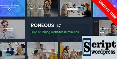 Roneous - Tema de WordPress de múltiplos propósitos criativo