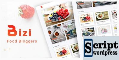 Bizi - Um Tema WordPress para Blogueiros de Alimentos