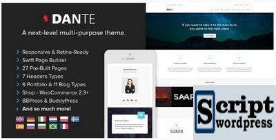 Dante - Tema de WordPress de múltiplos propósitos responsivo