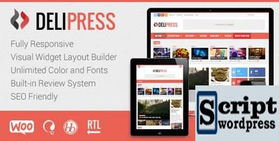 DeliPress - Tema WordPress para Revistas