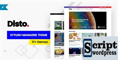 Disto - Tema da Revista Blog WordPress