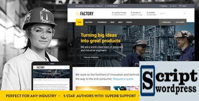 Factory - Tema de WordPress de negócios industriais