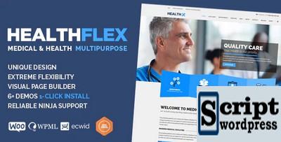 HEALTHFLEX - Tema de WordPress de Clínica Médica e Saúde