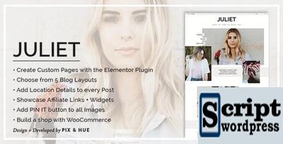 Julieta - Um tema de blog e loja para WordPress
