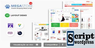 Mega Marketplace Store RTL Tema responsivo para WordPress WooCommerce