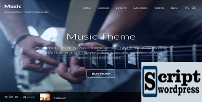 Music - Tema Wordpress Para Musico