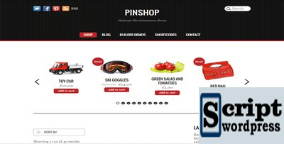 Pinshop - Tema Wordpress Woocommerce