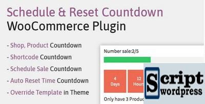 Plugin Wordpress - Agendar, redefinir o plug-in de contagem regressiva WooCommerce | WooCP