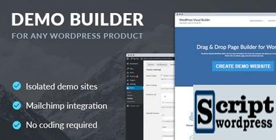 Plugin Wordpress - Demo Builder para qualquer produto WordPress