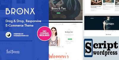 Tema Wordpress loja Virtual - Bronx Responsive Drag & Drop WooCommerce