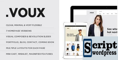Voux Fashion Shopping - Templates Para WooCommerce