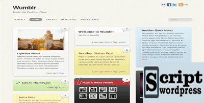 Wumblr - Tema Wordpress