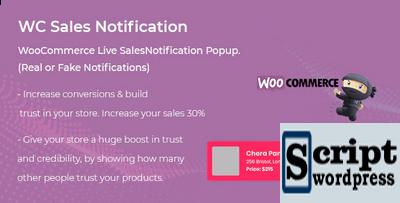 Plugin Wordpress Notificação Fake WooCommerce