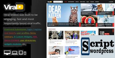 ViralVideo - Tema de WordPress de revista responsiva