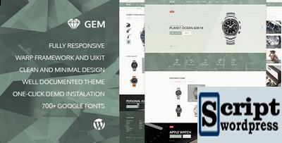 Gem – Template WordPress Relojoaria Loja virtual