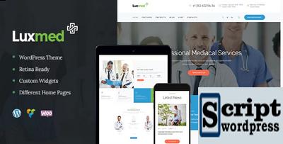 LuxMed Tema Wordpress Medico Estilo Moderno