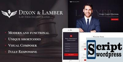Dixon & Lamber - Template Responsivo De Advogados