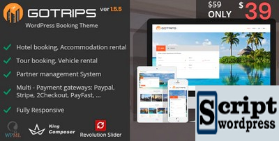 Gotrips | Tema de reserva de viagens para WordPress