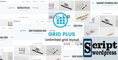 Grid Plus - Plugin Wordpress Layout de grade ilimitado