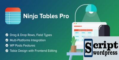 Ninja Tables Pro - Construtor de tabelas para WordPress