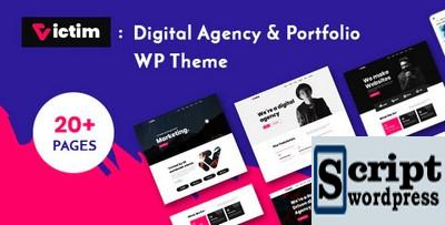 Vítima - Tema WordPress Agência Digital e Portfólio