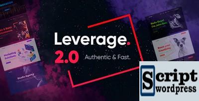 Leverage | Template para agência de marketing wordpress