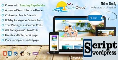 Trendy Travel - Template profissional wordpress para site de viagens