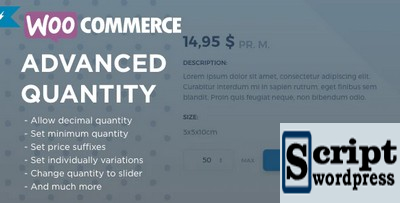 WooCommerce Advanced Quantity - Plugin Wordpress Quantidade avançada WooCommerce