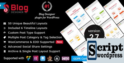 Blog Designer PRO for WordPress - Plugin Wordpress Para Construção de Blogs Memoravel