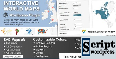 Interactive World Maps - Plugin do Wordpress para criar mapas